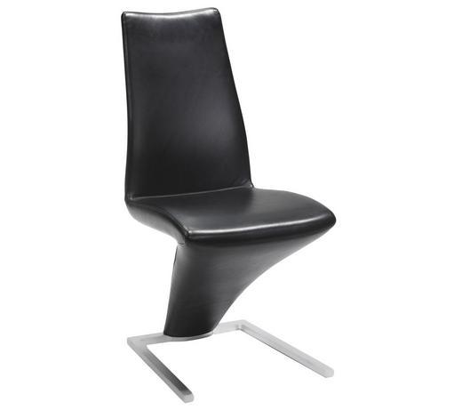 Stuhl Echtleder Schwarz