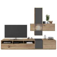 WOHNWAND In Eichefarben, Grau   Eichefarben/Grau, Design, ...