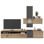 OBÝVACÍ STĚNA, barvy dubu, šedá - šedá/barvy dubu, Design, dřevo/kompozitní dřevo (265/205/50cm) - Valnatura