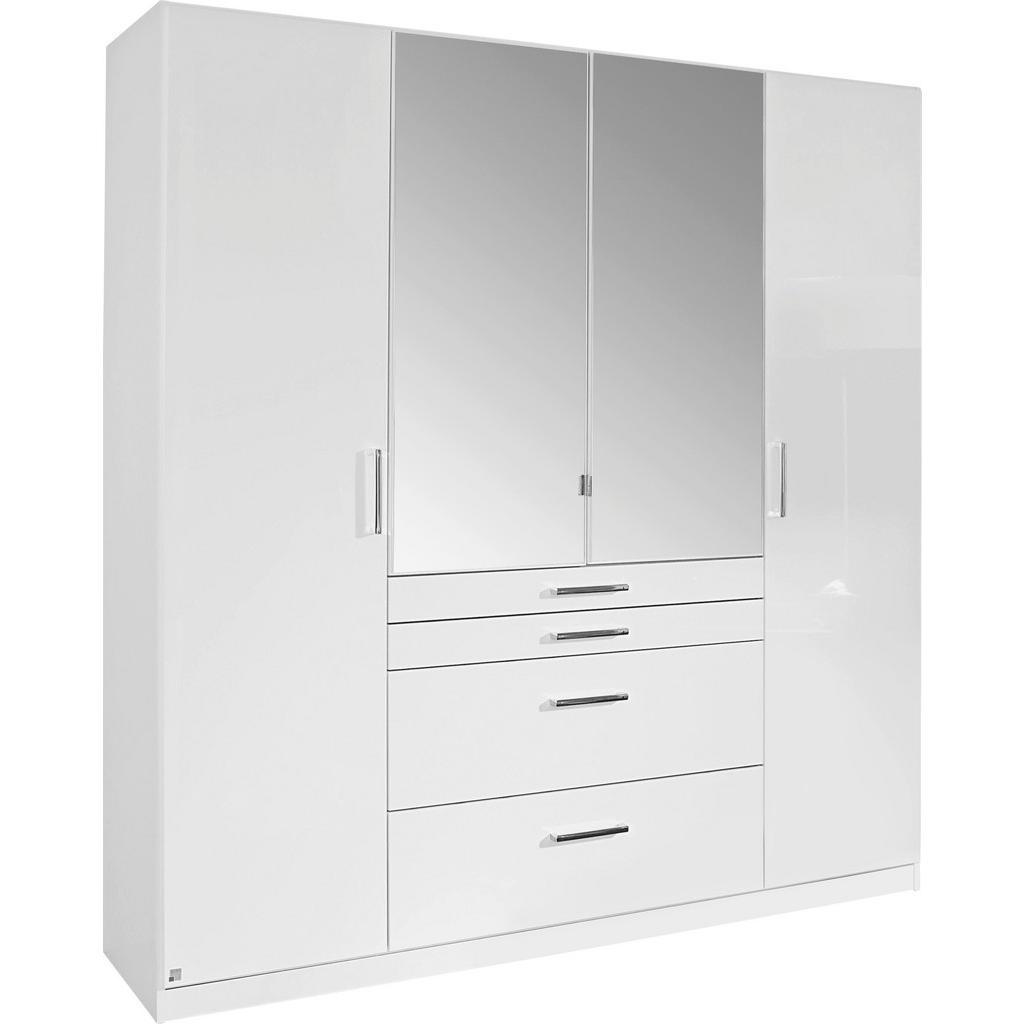 Carryhome Kleiderschrank 4-türig weiß