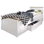 POSTEL S ÚLOŽNÝM PROSTOREM - bílá/barvy lanýžového dubu, Lifestyle, kompozitní dřevo (90/200/cm) - Carryhome