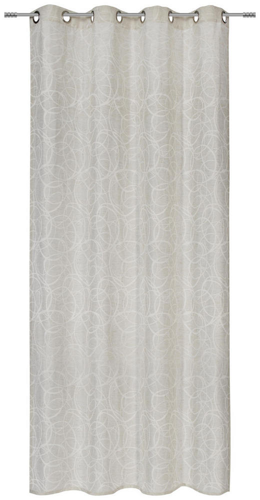 ÖSENVORHANG blickdicht - Naturfarben, KONVENTIONELL, Textil (140/245cm) - Esposa