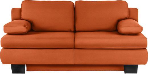 SCHLAFSOFA Orange - Wengefarben/Orange, KONVENTIONELL, Holz/Textil (203/94/100cm) - NOVEL