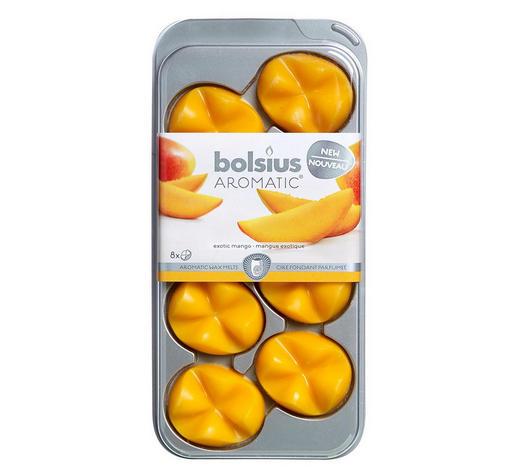 DUFTWACHS Mango   - Orange, Basics, Naturmaterialien (9,3/19,5/1,7cm) - Bolsius