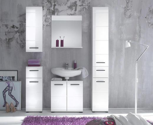 UNTERSCHRANK Weiß - Anthrazit/Weiß, MODERN, Holzwerkstoff/Kunststoff (30/79/31cm) - XORA