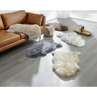 SCHAFFELL  65/45 cm  Grau - Grau, Basics, Fell (65/45cm) - Linea Natura