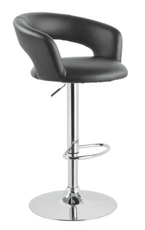 BARPALL - kromfärg/svart, Design, metall/textil (58/86-107/57cm) - Xora