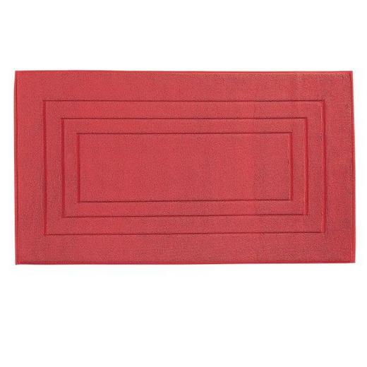 BADEMATTE  Dunkelrot  60/100 cm - Dunkelrot, Basics, Textil (60/100cm) - VOSSEN