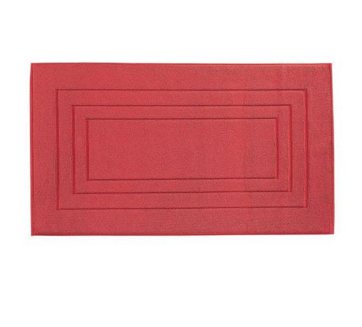 PŘEDLOŽKA KOUPELNOVÁ, 60/100 cm, tmavě červená - tmavě červená, Basics, textil (60/100cm) - Vossen