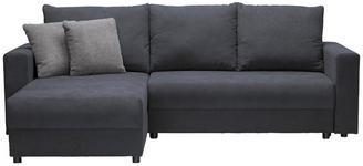 WOHNLANDSCHAFT in Grau Textil - Schwarz/Grau, Design, Kunststoff/Textil (176/246cm) - Xora