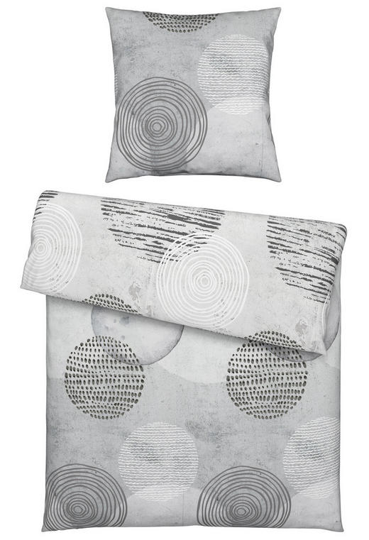 BETTWÄSCHE Satin Grau 155/220 cm - Grau, Design, Textil (155/220cm) - Novel