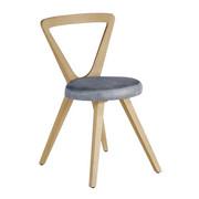 STUHL Wildeiche massiv Eichefarben, Grau - Eichefarben/Grau, Design, Holz/Textil (49/83/57cm) - VOGLAUER