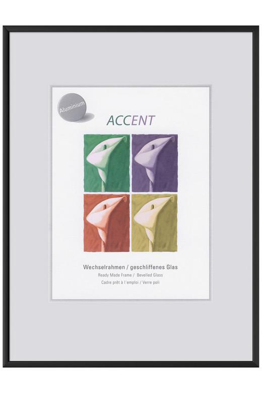 BILDERRAHMEN in Schwarz - Schwarz, Basics, Metall (13/18cm) - Nielsen