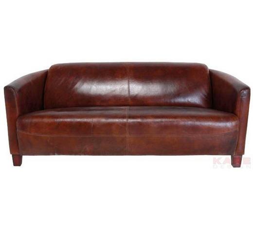 SOFA Echtleder Braun - Hellbraun/Braun, Design, Leder/Holz (176/70/83cm) - Kare-Design
