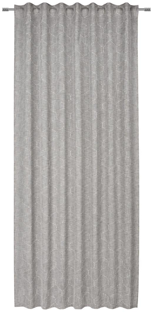 FERTIGVORHANG  transparent  140/245 cm - Grau, Design, Textil (140/245cm) - Esposa