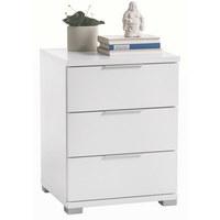NACHTKÄSTCHEN Weiß - Silberfarben/Weiß, Design, Kunststoff (46/61/42cm) - Carryhome