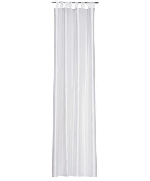 SCHLAUFENSCHAL  halbtransparent   140/255 cm - Weiß, Textil (140/255cm)