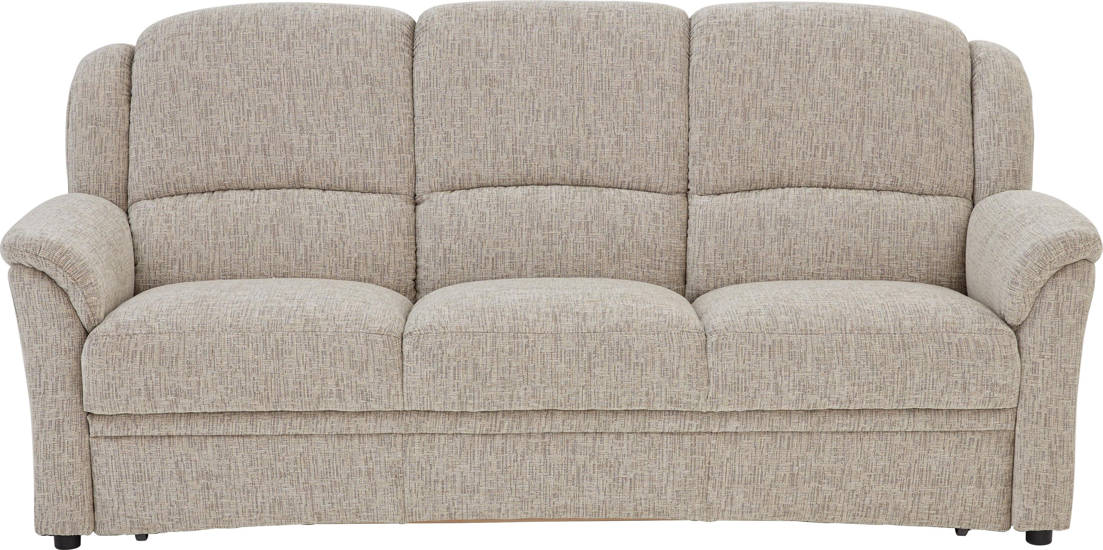 SITZGARNITUR Chenille Sandfarben - Sandfarben/Schwarz, KONVENTIONELL, Kunststoff/Textil (204/98/89cm) - BELDOMO COMFORT