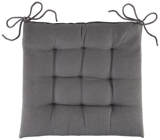 SITZKISSEN - Grau, Basics, Textil (40/40/4cm) - Boxxx
