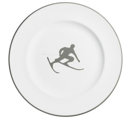 DESSERTTELLER 22 cm  - Weiß/Grau, LIFESTYLE, Keramik (22cm) - Gmundner