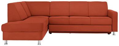 WOHNLANDSCHAFT in Textil Orange  - Chromfarben/Orange, Design, Textil/Metall (198/256cm) - Xora