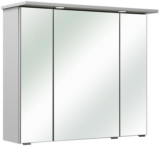 SPIEGELSCHRANK - Chromfarben/Weiß, KONVENTIONELL, Glas/Holzwerkstoff (80/70/18cm) - Xora