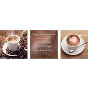 Kaffee GLASBILD - Multicolor, Basics, Glas (30/90cm) - Eurographics