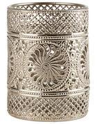 DRŽÁK NA ČAJOVOU SVÍČKU - barvy stříbra, Lifestyle, kov/sklo (9/12cm) - Ambia Home