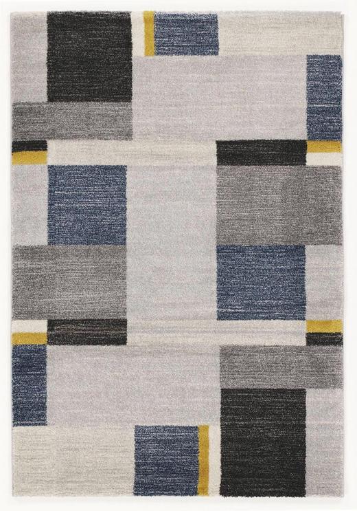 WEBTEPPICH  80/150 cm  Blau, Grau - Blau/Grau, Design, Textil (80/150cm) - Novel