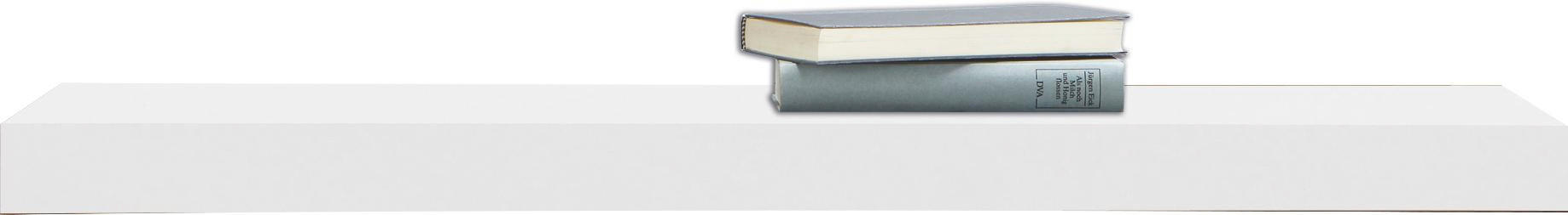 WANDBOARD furniert Weiß - Weiß, MODERN, Holz (90/25cm)