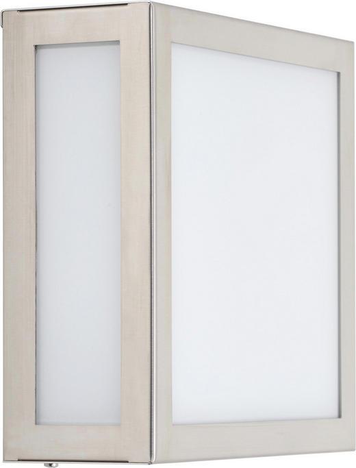 WANDLEUCHTE - Edelstahlfarben, Basics, Metall (20cm)