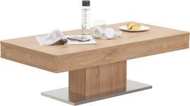 COUCHTISCH in Eichefarben - Edelstahlfarben/Eichefarben, Design, Holzwerkstoff/Kunststoff (120/60/40cm) - Hom`in