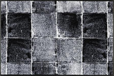 FUßMATTE 50/75 cm Objekte Hellgrau, Schwarz - Hellgrau/Schwarz, MODERN, Kunststoff/Textil (50/75cm) - Esposa