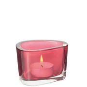 TEELICHTGLAS - Rot, KONVENTIONELL, Glas (9,00/6,00/7,00cm) - Leonardo