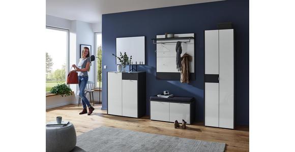 GARDEROBENPANEEL 98/108/30 cm  - Graphitfarben/Weiß, Design, Glas/Holzwerkstoff (98/108/30cm) - Voleo
