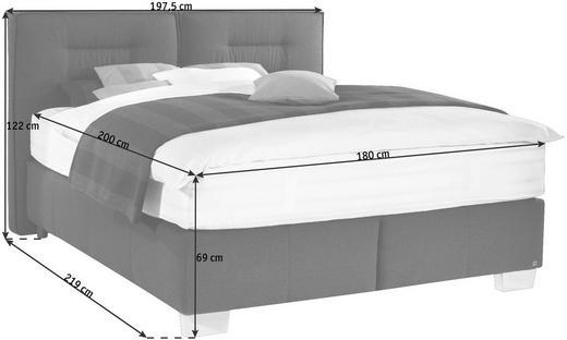 POSTEL BOXSPRING, 180 cm  x 200 cm, textilie, černá - černá/barvy hliníku, Konvenční, kov/textilie (180/200cm) - Dieter Knoll