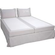 BOXSPRINGBETT 180 cm   x 200 cm   in Textil Weiß - Schwarz/Weiß, Design, Kunststoff/Textil (180/200cm) - Tom Tailor