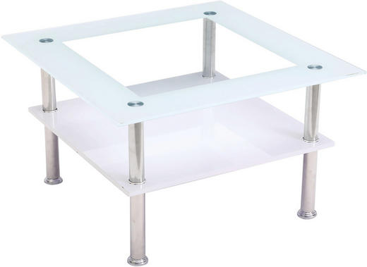 KONFERENČNÍ STOLEK - bílá/barvy dubu, Design, kov/kompozitní dřevo (70/70/42cm) - Carryhome