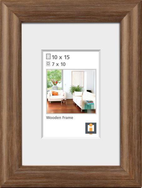 BILDERRAHMEN  Eichefarben - Eichefarben, Basics, Glas/Holz (10/15cm)