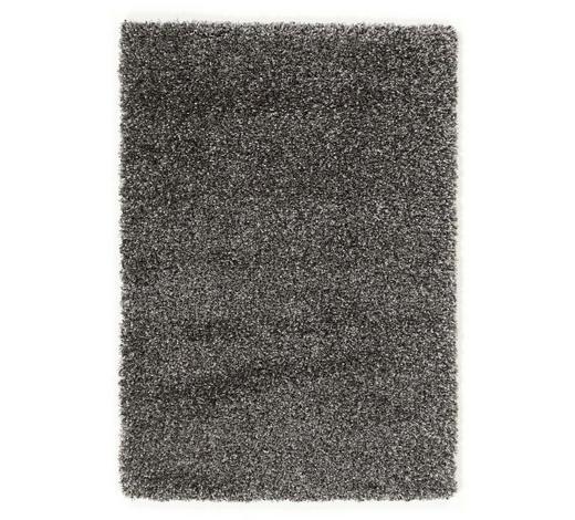 HOCHFLORTEPPICH  65/130 cm  gewebt  Dunkelgrau - Dunkelgrau, Basics, Textil (65/130cm) - Novel