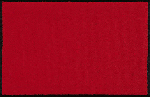 FUßMATTE 75/190 cm Uni Rot - Rot, Basics, Kunststoff/Textil (75/190cm) - Esposa
