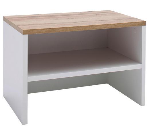 GARDEROBENBANK 63/42/40 cm - Eichefarben/Weiß, Design, Holzwerkstoff (63/42/40cm) - Carryhome