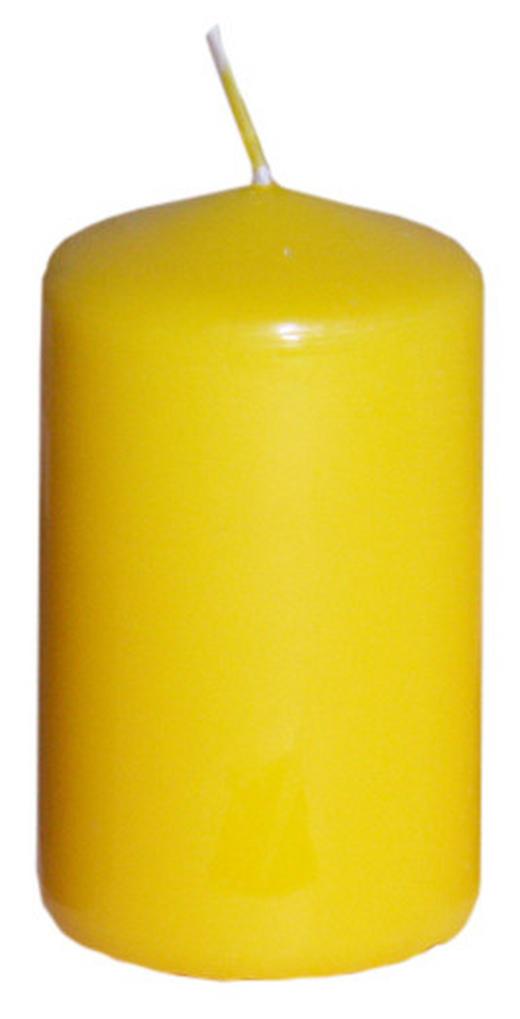 STUMPENKERZE 4,7/8 cm - Gelb, Basics (4,7/8cm) - Steinhart