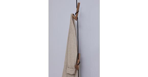 WANDGARDEROBE - Eichefarben/Anthrazit, Natur, Holz/Textil (12/197/30cm) - Valnatura