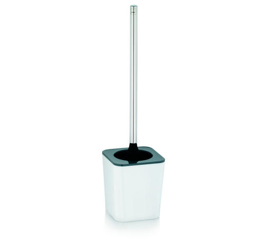GARNITURA TOALETNE ČETKE - bijela/siva, Design, metal/plastika (11,5/40cm) - Kela