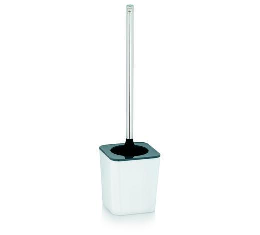 WC GARNITURA S ŠČETKO NURIA - siva/bela, Design, kovina/umetna masa (11,5/40cm) - Kela