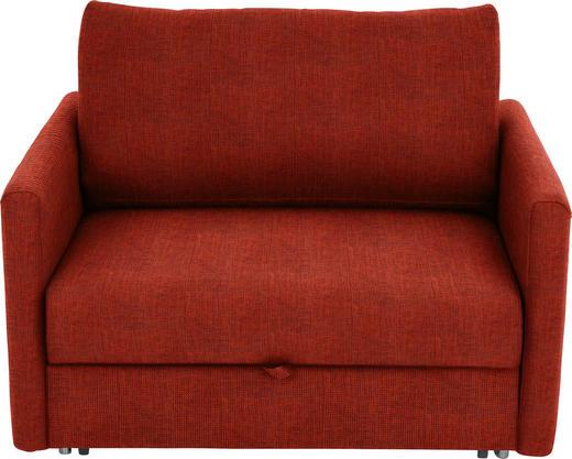 SCHLAFSESSEL Orange - Chromfarben/Orange, Design, Textil/Metall (116/77-88/110-120cm) - Bali