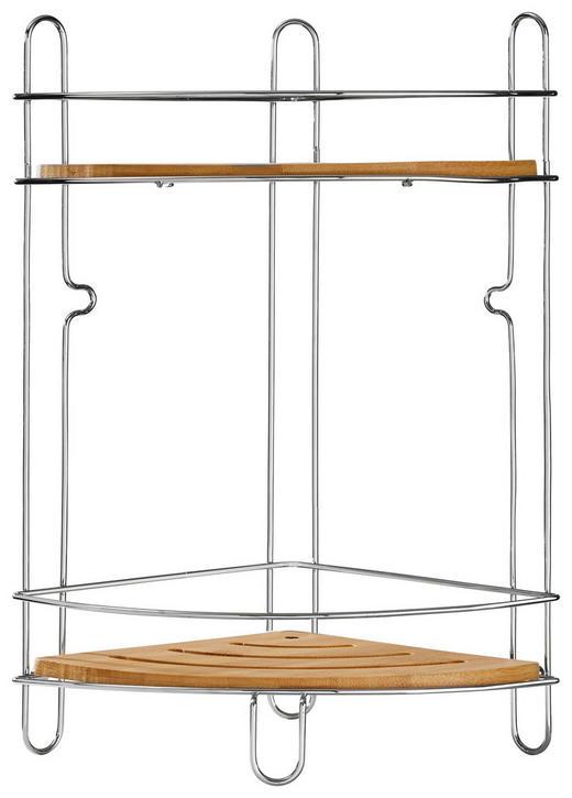 BADEZIMMERREGAL Holz, Metall Bambus - Holz/Metall (19,5/36,5/19,5cm)