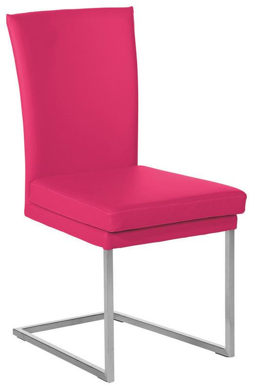SCHWINGSTUHL Echtleder Pink - Pink, Design, Leder/Metall (47/95/57cm) - MUSTERRING