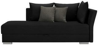 LIEGE in Textil Grau, Schwarz - Chromfarben/Schwarz, Design, Kunststoff/Textil (220/93/100cm) - Xora